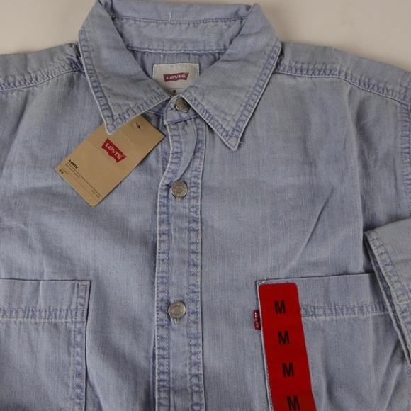 e87bbd385ac Levi s Red Tab Mens Cotton Denim Work Shirt NWT
